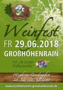 Flyer zum Weinfest